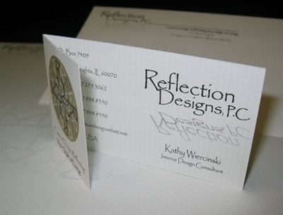 Reflection Design Folder Business Card