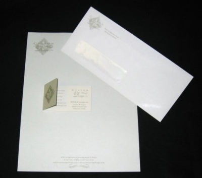 Stationery Package - Letterhead, Window Envelope and Folded Business Card