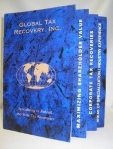 Global Tax Recovery Sales & Marketing Booklet with Step Pages