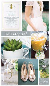 Sweet Tropical Wedding Inspiration Board CC