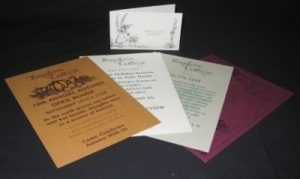 Samples-flyers on different paper stocks
