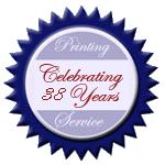 Celebrating 38 Years seal